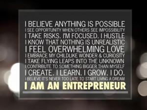 I take risks. I focus. I hustle.