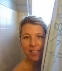 I am in the shower!
